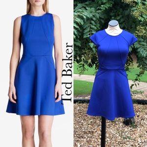 Mitton Skater Dress Blue Skater Dress by Ted Bake